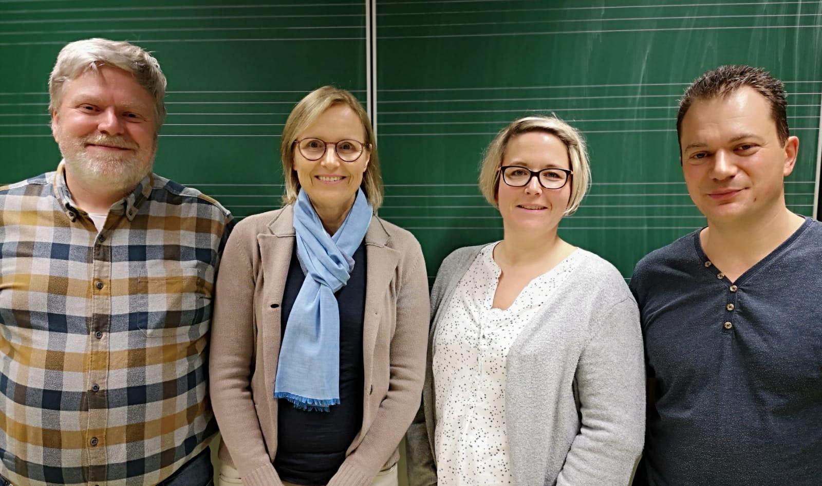 Vorstandsmitglieder des Fördervereins: Christian Bendig, Anne Schoeller, Eike Büchele, Klaus Reiter