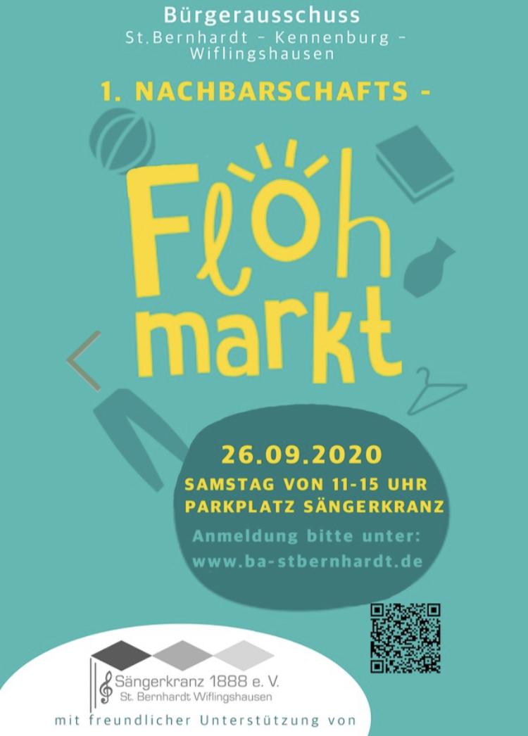 1. Nachbarschaftsflohmarkt 26.9.2020 Bürgerausschuss St. Bernhardt - Kennenburg - Wiflingshausen
